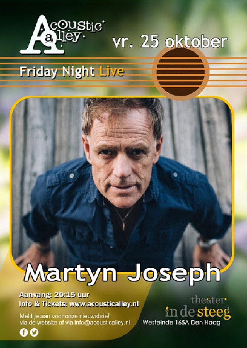 Acoustic Alley presenteert Martyn Joseph
