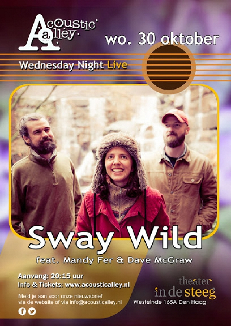 Acoustic Alley presenteert: Sway Wild 30 oktober 2019
