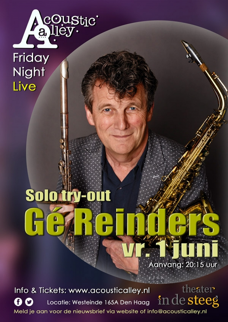 vrijdag 1 juni: Gé Reinders met Oetblaoze (solo try-out)