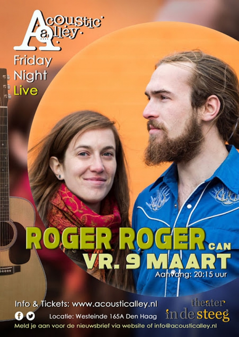 9 maart: Roger Roger in Acoustic Alley